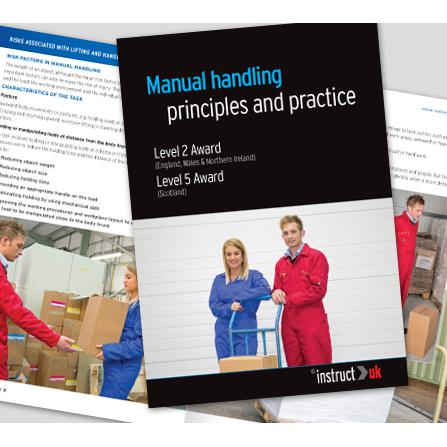 Click Medical Manual Handling Book Fully Illustrated Ref CM1319 *Up to 3 Day Leadtime*