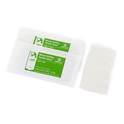 Cut-Eeze Haemostatic Soluble Dressing Gauze 10x10cm Ref CM0568 *Up to 3 Day Leadtime*