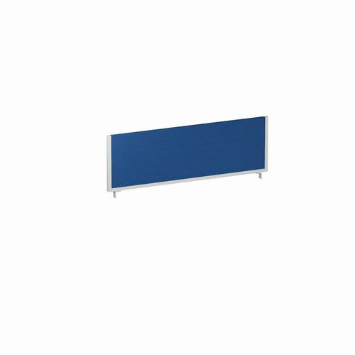 Trexus 1200x400 Rectangular Bench Desk Screen Blue/Silver 1200x400mm Ref LEB053