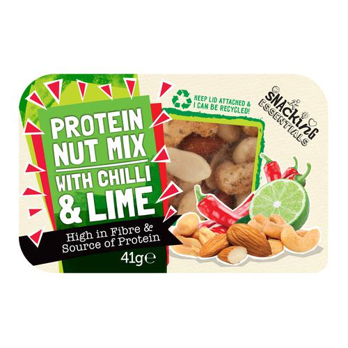 Snacking Essentials Nut Mix Chilli & Lime Snack Pot 41g Ref 512541 [Pack 9]