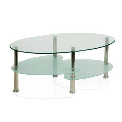 Trexus Berlin Coffee Table With Shelves Chrome Legs Ref FR000001