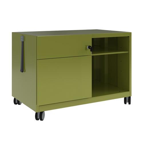 Bisley Caddy Pedestal Left Hand 800x490x563 Green Ref CADM08LH-bh2