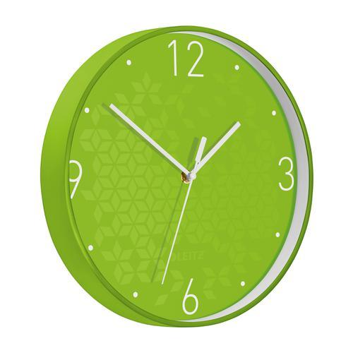 Leitz WOW Wall Clock 290x290x43mm Green Ref 90150054