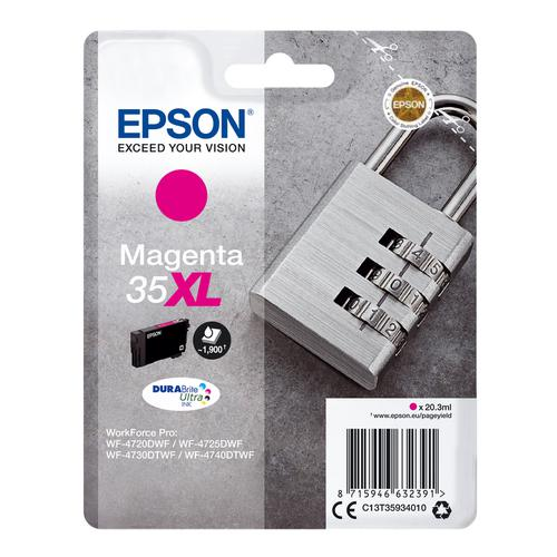 Epson 35XL Inkjet Cartridge High Yield Page Life 1900pp 20.3ml Magenta Ref C13T35934010