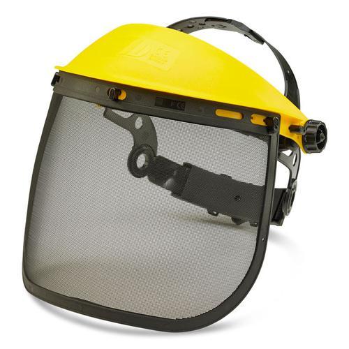 B-Brand Mesh Visor Universal Steel Mesh Black/Yellow Ref BBMV7 *Up to 3 Day Leadtime*
