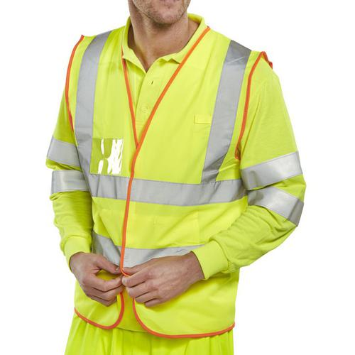 B-Safe Pre-Pack Vest Multipurpose Reflective L Saturn Yellow Ref BS061L *Up to 3 Day Leadtime*
