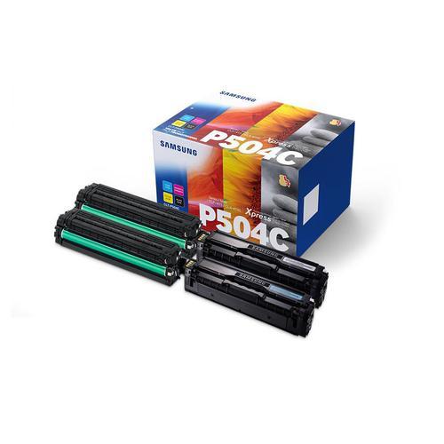Samsung CLT-P504C Toner Carts Page Life Black 2500pp/1800pp Cyan/Mag/Yellow Ref CLT-P504C [Pack 4]