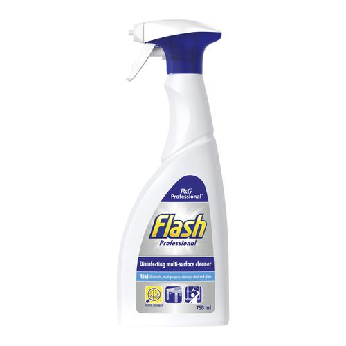 Flash Professional Disinfectant Multi Surface Spray 750ml Ref C001848 [Pack 12]