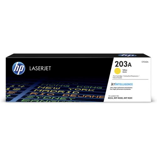 HP 203A LaserJet Toner Cartridge Page Life 1300pp Yellow Ref CF542A