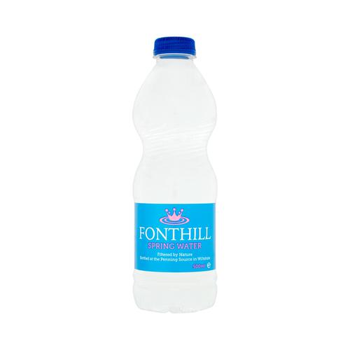 Fonthill Still Spring Water PET Plastic Bottle 500ml Ref FON5ML24 [Pack 24]
