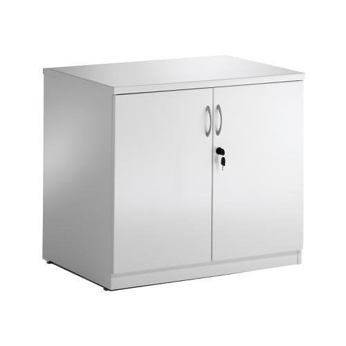 Sonix Desk High Cupboard 800x600x730mm High Gloss White Ref I000732