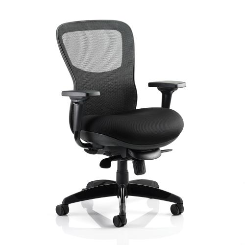 Adroit Stealth Shadow Ergo Posture Chair With Arms Mesh Back Airmesh Seat Black Ref PO000019