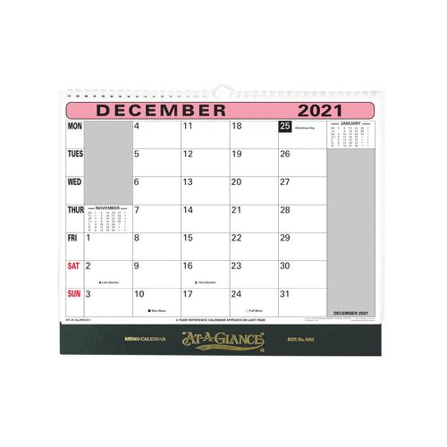 At-A-Glance 2021 Flip-over Wall Calendar Month to View 330x276mm Assorted Ref 90M 2021