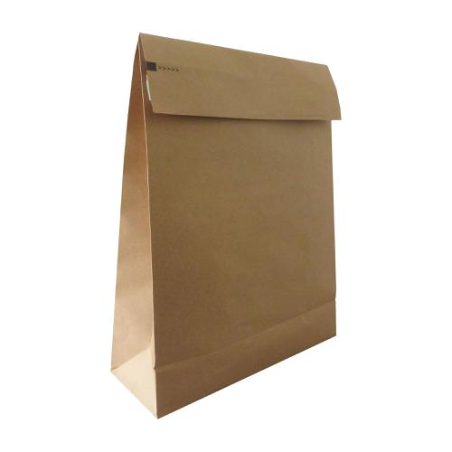 Kraft Mlr Eco Expanding Block Btm & Side Gusset Dbl P&S 250x350x50mm +100 flap Man Ref RBL10528 [Pack 50]