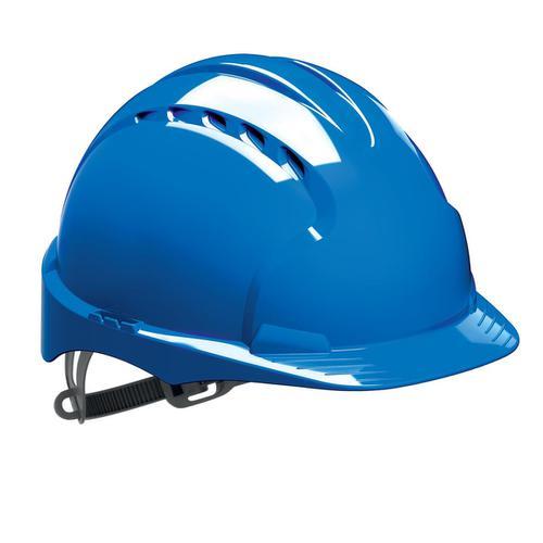 JSP EVO2 Safety Helmet HDPE 6-point Polyethylene Harness EN397 Standard Blue Ref AJF030-000-500