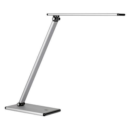 Unilux Terra LED Desk Lamp Adjustable Arm 5W Max Height 510mm Base 180x120mm Silver Ref 400087000