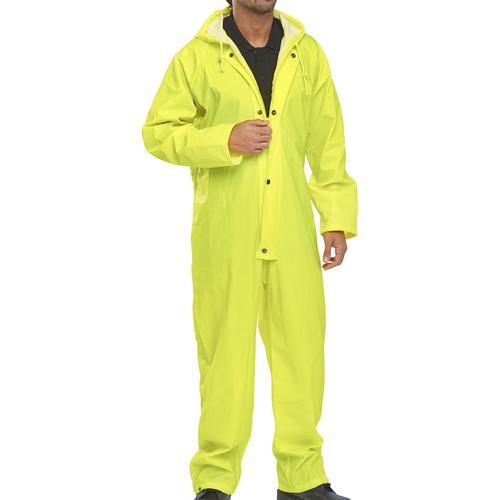 Super B-Dri Weatherproof Coveralls XL Yellow Ref SBDCSYXL *Up to 3 Day Leadtime*