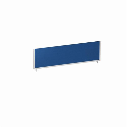 Trexus 1400x400 Rectangular Bench Desk Screen Blue/Silver 1400x400mm Ref LEB054