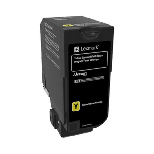 Lexmark CS720/CS725 Laser Toner Cart Return Programme Page Life 7000pp Yellow Ref 74C2SY0