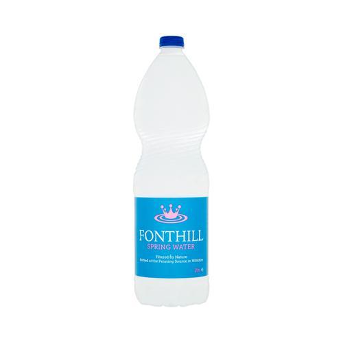 Fonthill Still Spring Water PET Plastic Bottle 2 Litre Ref FON2L6MP [Pack 6]