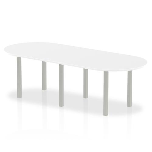 Trexus Boardroom Table 2400x1200x730mm White Ref I000204