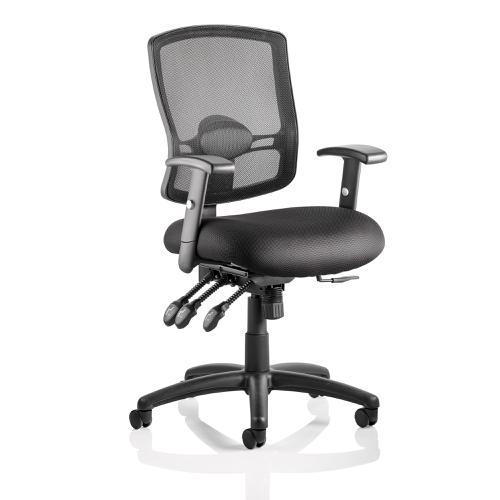 Sonix Portland III Task Operator Chair With Arms Mesh Back Black Ref OP000110