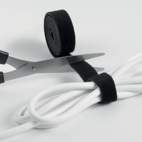 Durable CAVOLINE GRIP 20 Self Gripping Cable Management Tape Black Ref 503201