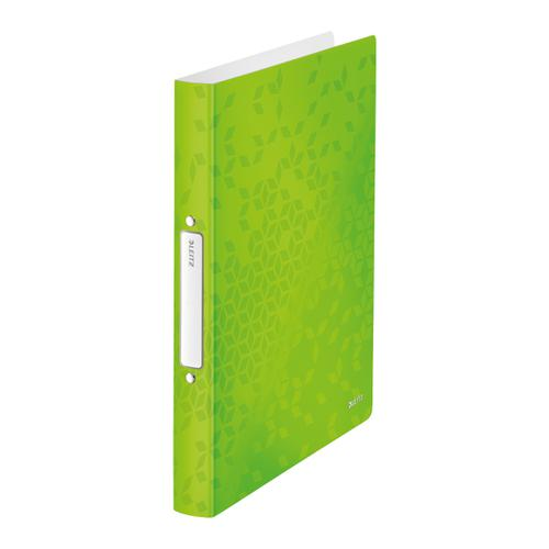 Leitz FSC WOW Ring Binder 2 D-Ring 25mm Size A4 Green Ref 42410054 [Pack 10]