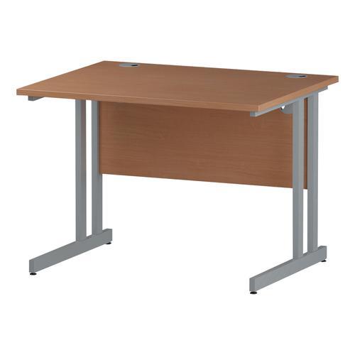 Trexus Rectangular Desk Silver Cantilever Leg 1000x800mm Beech Ref I000282
