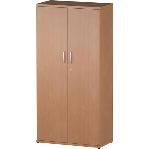 Trexus Office High Cupboard 800x400x1600mm 3 Shelves Beech Ref S00003