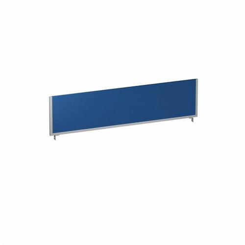 Trexus 1600x400 Rectangular Bench Desk Screen Blue/Silver 1600x400mm Ref LEB055