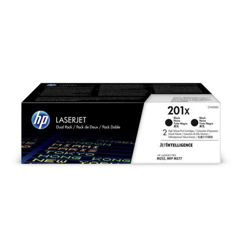 HP 201X Toner Cartridge High Yield Page Life 2800pp Black Ref CF400XD [Pack 2]