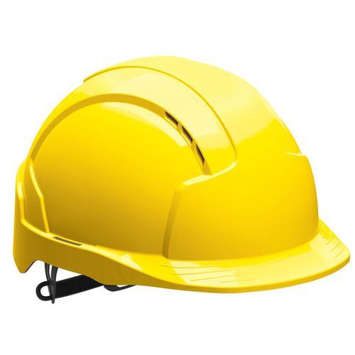 JSP EVOLite Safety Helmet ABS 6-point Terylene Harness EN397 Standard Yellow Ref AJB160-000-200