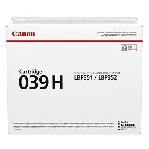 Canon CRG 039H Laser Toner Cartridge High Yield Page Life 25000pp Black Ref 0288C001
