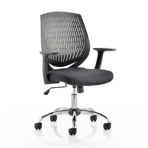 5 Star Office Dura Task Operator Chair With Arms Black Ref OP000014
