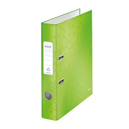 Leitz WOW Lever Arch File 80mm Spine for 600 Sheets A4 Green Ref 10050054 [Pack 10][REDEMPTION] Apr-Jun20