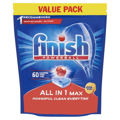 Finish Dishwasher Powerball Tablets All-in-1 Ref Lemon RB797723 [Pack 60]
