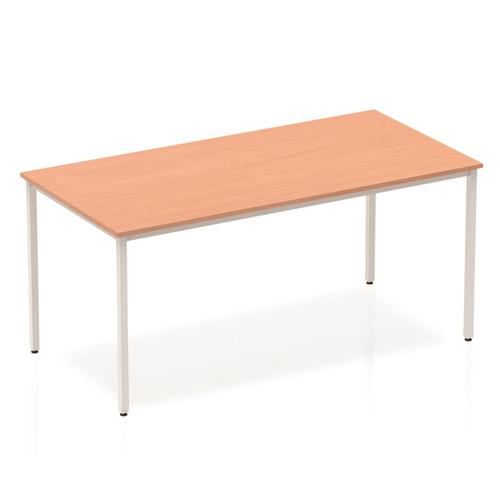 Trexus Rectangular Box Frame Silver Leg Table 1600x800mm Beech Ref BF00104