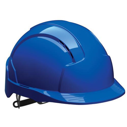 JSP EVOLite Safety Helmet ABS 6-point Terylene Harness EN397 Standard Blue Ref AJB160-000-500
