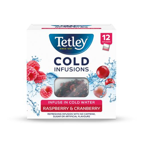 Tetley Cold Infusions Raspberry & Cranberry Ref 4692A [Pack 12]