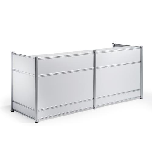Trexus Reception Desk 2485x1030x25mm High Gloss White Ref I000736
