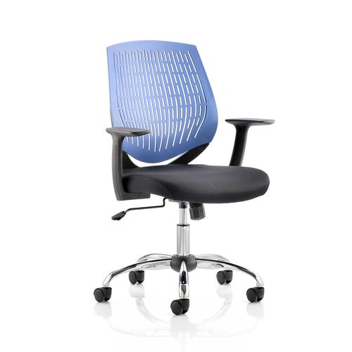 5 Star Office Dura Task Operator Chair With Arms Blue Ref OP000015