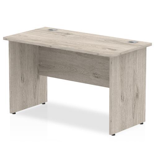 Trexus Slim Rectangular Desk Panel End Leg 1200x600mm Grey Oak Ref I003086