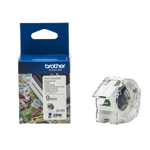 Brother Colour Label Printer 9mm Wide Roll Cassette Ref CZ1001