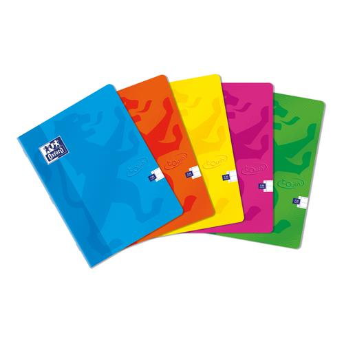 Oxford Soft Touch Stapled A4 Assorted Colours Ref 400088258 [Pack 5]