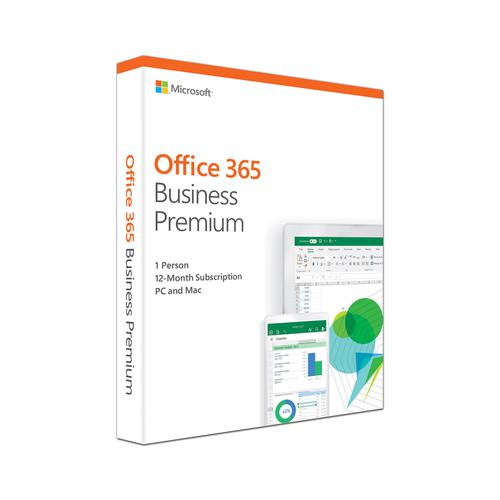 Microsoft Office 365 Business Premium Software 2019 Ref KLQ-00388