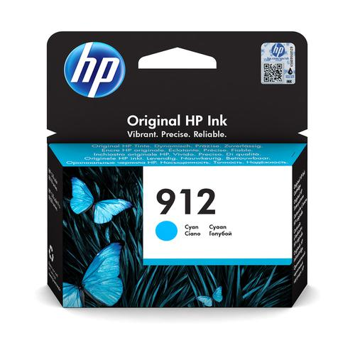 Hewlett Packard 912 Inkjet Cartridge Page Life 315pp 2.93ml Cyan Ref 3YL77AE