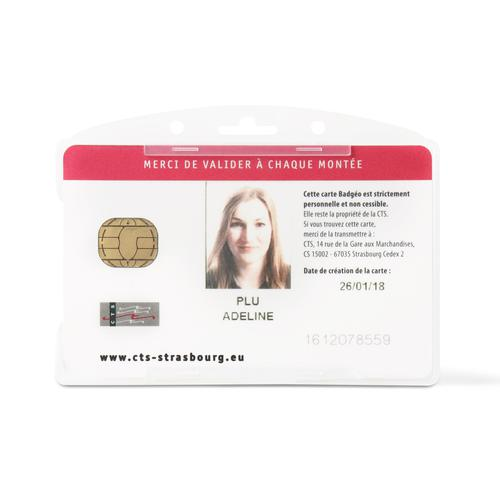 Tarifold Open faced single ID card holders Horizontal Clear [Pack 10]
