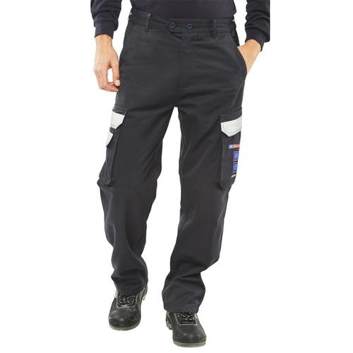 Click Arc Flash Trousers Fire Retardant Navy Blue 40-Short Ref CARC4N40S *Up to 3 Day Leadtime*