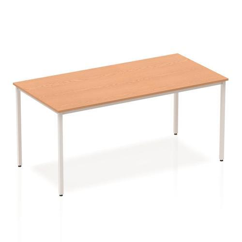 Trexus Rectangular Box Frame Silver Leg Table 1600x800mm Oak Ref BF00130